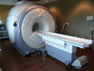 An MRI Scanner in a medical exam room